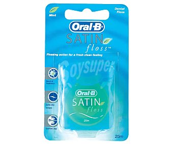 Oral-B Seda dental Satin Floss rollo 25 m Blíster 1 u