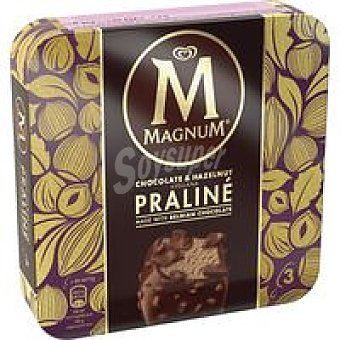 Magnun Bombón Praliné chocolate&avellana Pack 3 x 72 g