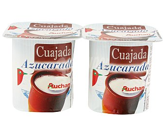 Auchan Cuajada Azucarada Pack 4 Unidades de 125 Gramos