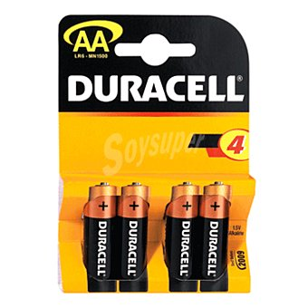 Duracell Pila alcalina AA blíster 4 uds 4 uds