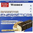Barrita energética sabor yogurt muesli caja 105 g pack 3 barritas WEIDER