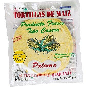 PALOMA Tortillas de maíz Paquete 12 unidades