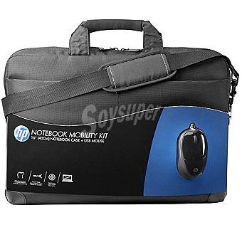HP Maletín Para portátil de 16'' y ratón óptico en color negro