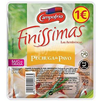 Finissimas Campofrío Pechuga de pavo en lonchas Envase 70 g