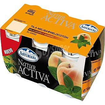 Central Lechera Asturiana Yogur líquido Naturactiva tila, melisa y melocotón Pack 6x100 g