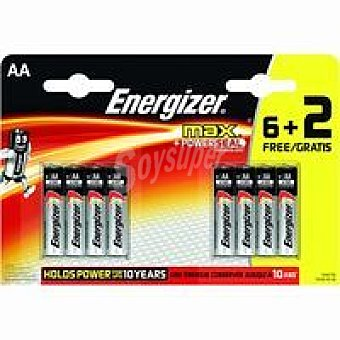 Energizer Max Powerseal E92/L03 Pack 6+2 unid