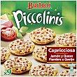 Mini pizzas de capriccios, jamón y queso Caja 9 unidades - 270 g Buitoni Piccolinis