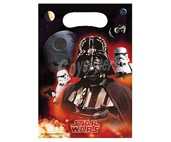 Star Wars Bolsitas de plástico para fiestas con diseño Star Wars & Heroes, Pack de 6 unidades