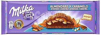 Milka Chocolate con almendras y caramelo Tableta 300 g