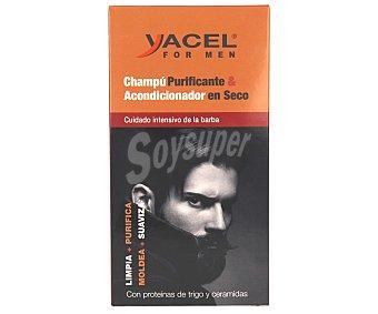 Yacel Champú y acondicionador para un cuidado intensivo de la barba 250 ml