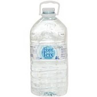 FONT TEIX Agua mineral Garrafa 6 litros