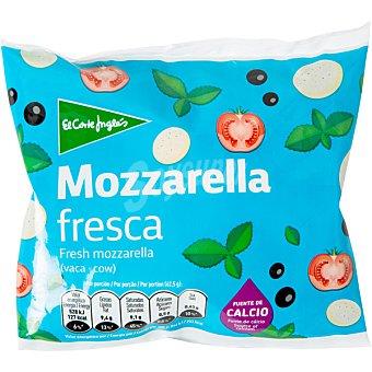 El Corte Inglés Mozzarella fresca de vaca envase 125 g