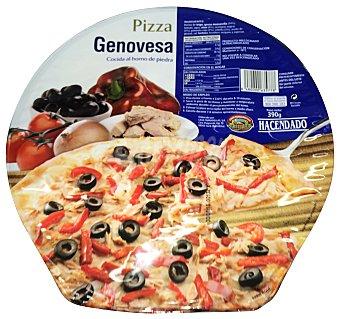 Hacendado Pizza congelada genovesa (atun, cebolla, aceitunas negras) 390 g
