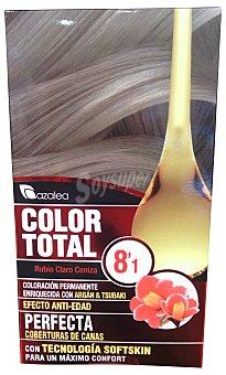 AZALEA Tinte coloración permanente color total Nº8.1 rubio claro ceniza (enriquecido con aceite argán y tsubaki) u