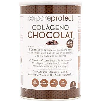 Corpore Protect Colágeno sabor chocolate con cúrcuma, magnesio, calcio, vitaminas C y D y Ac. hialurónico sin azúcar y sin gluten Bote 250 g