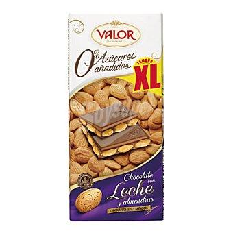 Valor Chocolate con leche y almendras 0% azúcares añadidos xl 180 g