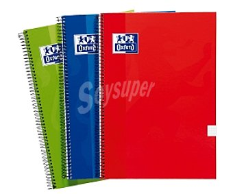 Oxford  Cuadernos Cuadriculados 80 Hojas Tapa Extradura Pack 3