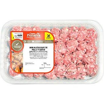 Casa de penalva Albóndigas de pollo y cerdo peso aproximado Bandeja 450 g