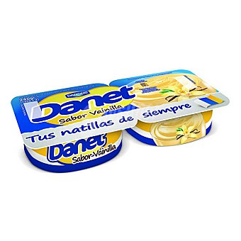 Danet Danone Natillas sabor vainilla Pack 2 x 120 g