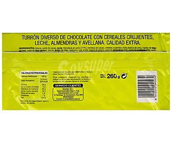 Productos Económicos Alcampo Turrón de chocolate crujiente 300 gramos