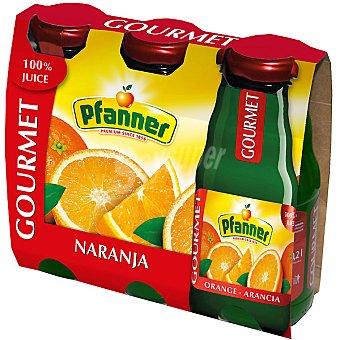 PFANNER GOURMET Zumo de naranja Pack 3 envase 200 ml