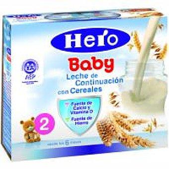 Hero Leche de continuación con cereales Pack 2x250 g