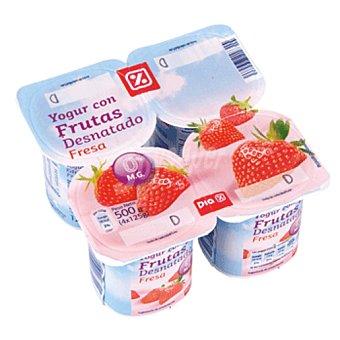 DIA DIA yogur con frutos rojos desnatado  pack 4 unidades 125 g