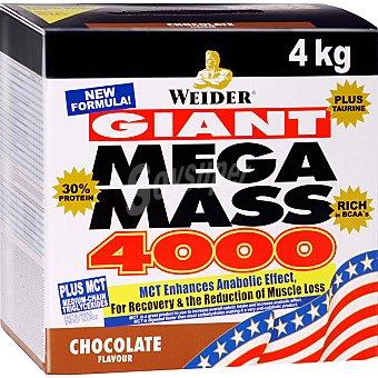 WEIDER Mega Mass 4000 Hidratos de carbono sabor chocolate Caja 4 kg