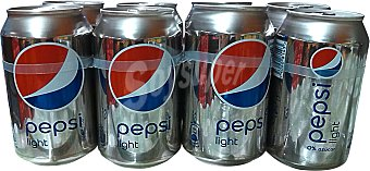 PEPSI Refresco de cola light 8 latas de 33 cl