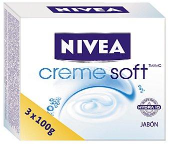 Nivea Jabón de manos creme soft Pack 3 x 100 gr