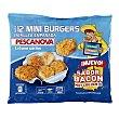 Mini hamburguesas de merluza empanada Envase 360 g Pescanova