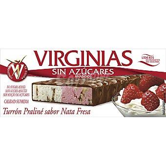 Virginias sin azúcar turrón praliné sabor nata y fresa Tableta 200 g