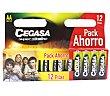 Pila super alcalina Pack 12 unid LR6 ahorro CEGASA