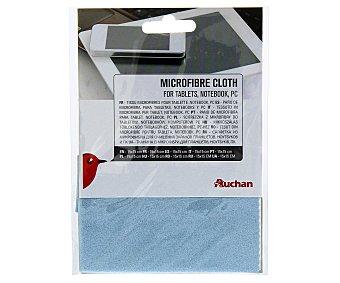 AUCHAN 400282 Balleta para limpieza de microfibra, especial para tablets, smartphones, pc's, 15x15cm