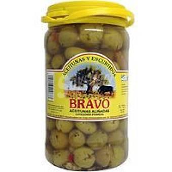 Bravo Aceitunas hojiblanca partidas Frasco 900 g