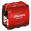 Cerveza Pack de 6 botellines de 25 centilitros Alhambra