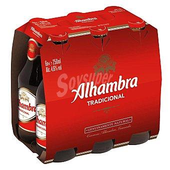 Alhambra Cerveza Pack de 6 botellines de 25 centilitros