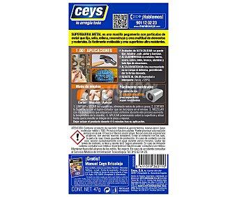 Ceys Masilla reparadora metal 47 Gramos