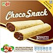 Barritas rellenas de crema de cacao con avellanas sin gluten envase 75 g 3x25 g ESGIR Choco Snack