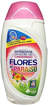 Bosque Verde Detergente lavadora gel ropa blanca y color aroma flor paraiso Botella de 810 cc
