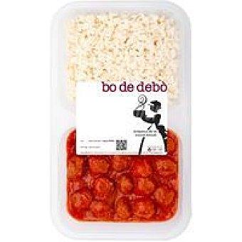 Bo de Debò Arroz+albóndigas con tomate Bandeja 400 g