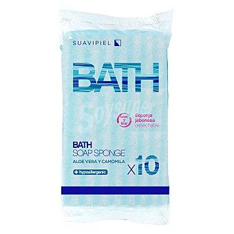 Esponja de baño desechables Esponjabon 10 ud 10 ud