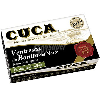 Cuca Ventresca Reserva de Familia de bonito del norte fresco de campaña en aceite de oliva Lata 82 g neto escurrido
