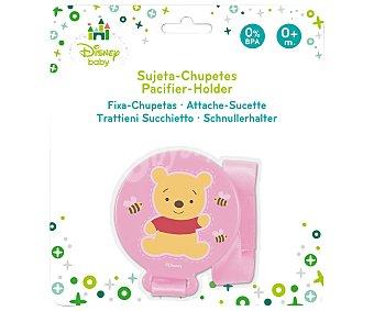 Disney Sujeta chupetes, color rosa, Winnie the pooh