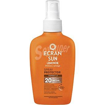 Ecran Sun Lemonoil broncea y protege spray protector con vitamina C y E FP-20 resistente al agua spray 100 ml