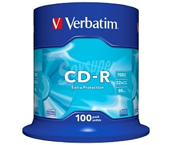 VERBATIM 100 CD-R Pack 100 cd-r Datalife 700MB 52X verbatim Pack 100