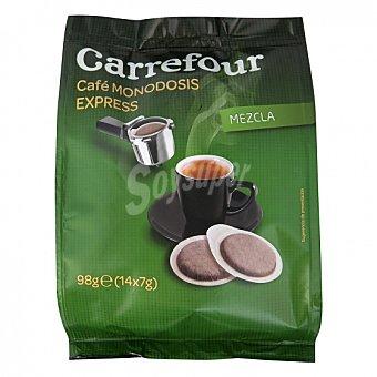 Carrefour Café mezcla express de 7 G Monodosis 14 unidades