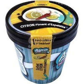 AGOUR Sorbete de limón con pimentón Tarrina 125 ml