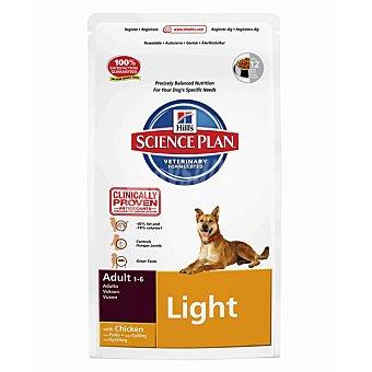 HILL'S SCIENCE PLAN ADULT LIGHT Alimento especial para perros adultos con pollo y menos grasa para mantener el peso ideal bolsa 3 kg Bolsa 3 kg