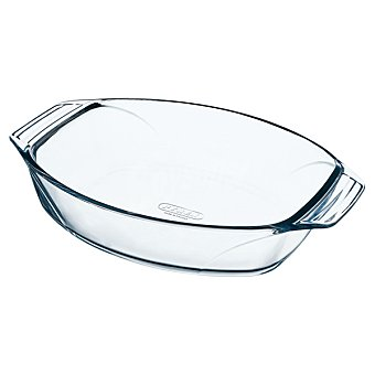 PYREX Optimun Fuente Oval de vidrio 35 x 24 cm